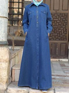 SHUKR USA | Denim Multi-Pocket Jilbab