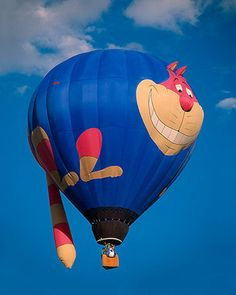 The Cheshire Cat (Hot Air Balloons by Unknown) Bubble Balloons, Helium Balloons, Disney Balloons, Air Balloon Rides, Hot Air Balloon, Expo 67 Montreal, Air Balloon Festival, Love Balloon, Cat Balloon