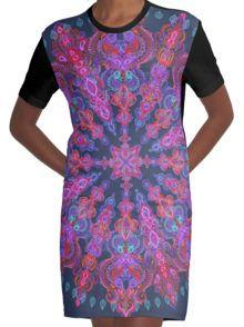Bohemian Grafische T-shirt Dress