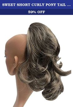 SWEET SHORT CURLY PONY TAIL HAIR EXTENSION, (CLAW GRIP) (22 Brown Grey Mix). Vanessa Grey introduces the fantastic clip on Short Curled ponytail. Instantly transform your hair with this super easy to use clip in accessory. Fans of Vanessa Grey hair pieces will already recognize our unique range of shades and quality products that are simply not available elsewhere! The Short Curled pony is now available in all Vanessa Shade matches. This hairpiece has an extra strong clip that provides a...