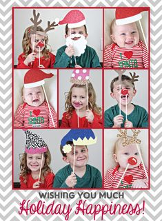 DIY Photobooth Christmas Cards