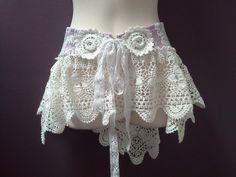 WOMANS BOHO BELT, bridal over skirt, white pink belt, crochet skirt, bohemian chic belt, festival skirt, burning man belt, wedding belt
