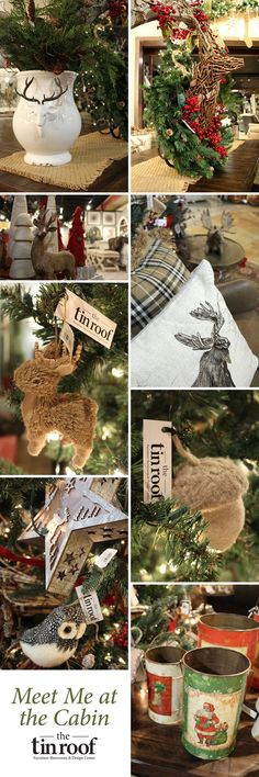 """""""Meet Me at the Cabin"""" #christmastree theme by The Tin Roof #holidayshoppe2015"""