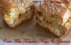 Cake Féta, Tomates, noix & Graines Cake Feta, Petit Cake, Salty Cake, Banana Bread, Quiches, Desserts, Salty Tart, Tomatoes, Food