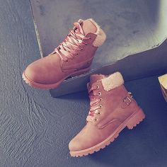 Women's Fashion Martin Boots waterproof Snow Boots Winter Keep Warm Short Boots Ankle Boots Size Winter Boots On Sale, Winter Snow Boots Women, Boots For Sale, Lace Up Boots, Ankle Boots, Martin Boots, Trendy Shoes, Short Boots, Keep Warm