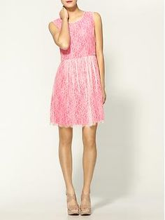 Erin Fetherston Fit and Flare Lace Dress 8 Medium Nwt Pink dresses cocktail Mini Floral Sheath Dress, Lace Dress, Fit Flare Dress, Fit And Flare, Feminine Style, Dress Me Up, Spring Fashion, White Fashion, Clothes For Women