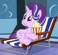 #1118304 - animated, cute, eating, food, glimmerbetes, popcorn, puffy cheeks, safe, spoiler:s06e01, starlight glimmer, the crystalling - Derpibooru - My Little Pony: Friendship is Magic Imageboard