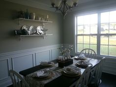 Dining Room with Shelves- Picture Only