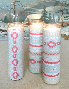 How to create fair isle candle wraps