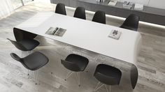 FLOYD is a diningtable or desk made of carbon fiber, Kevlar, structural foam and stainless steel. Furniture Making, Carbon Fiber, Furniture Design, Top, Black, Home Decor, Carbon Fiber Spoiler, Homemade Home Decor, Black People