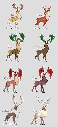 Sawsbuck Variations by backinthefarm on DeviantArt for adopt the secont one is mine