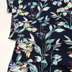Cotton Lawn Fabric, Navy Background, Dressmaking, Crisp, Print Patterns, Floral Prints, Surface, Trousers, Men Casual
