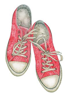 Converse Shoes Chuck Taylor Grunge Love Heart by BeccaLoveheArt f558696ff