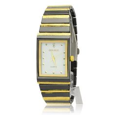 Golden Square Dial Quartz Movement Wrist Watch Golden Square Dial Quartz Movement Wrist Watch [51388] - US$7.41 : Aladdinmart