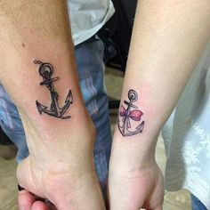 Anchor Tattoo Idea for Couples