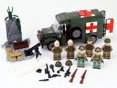 II custom moc 3 mini figure WW2 WWII German half track Sd.Kfz 25 World War 2