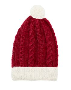 666251e2e52 Alpaca Santa Beanie ~ hand knit by women artisans in the comfort of their  homes so they can care for their families. Nicole A · Hats ...