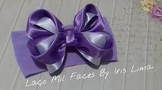 ribbon flowers iris lima - YouTube