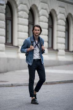 Denim Jacket by AG Jeans | T-Shirt by Weekday | Chinos by Armani Exchange