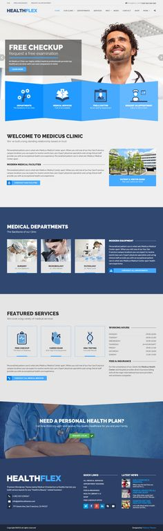 HEALTHFLEX is a Premium Multipurpose #Wordpress Theme, focused on #medical, #wellness and other health-related projects. It is ideally suited for: Doctors, Veterinarians, Hospitals, Health Clinics, Diet & Beauty Specialists, Personal Trainers... Live Demo at: http://www.responsivemiracle.com/healthflex-premium-responsive-medical-health-wordpress-theme/