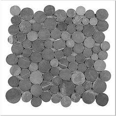 DIVERO-1-Matte-30x30cm-Andesit-Stein-Mosaik-Fliesen-Wand-Boden-Kiesel-Muenze-grau