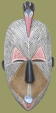 Traditional African Masks come from the Basangu Tribe of The Congo. Art Tribal, Art Premier, Art Africain, Africa Art, Art Sculpture, Masks Art, African Masks, African Culture, Aboriginal Art