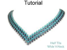 Miyuki Half Tila Two Hole Beads Beading Tutorial Pattern