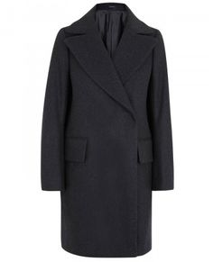 Jil Sander charcoal wool, alpaca and mohair blend coat Oversized notched lapels, two front flap pockets, internal button fastening pocket, fully lined Concealed double-breasted button fastening at front 55% wool, 40% alpaca, 5% mohair; lining: 53% silk, 47% cupro    - See more at: http://www.harveynichols.com/womens-1/categories/designer-coats/long/s458996-palermo-wool-blend-coat.html?colour=CHARCOAL#sthash.UMqep3Bc.dpuf
