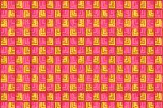 Box Patterns, Geometric Patterns, Print Box, Tribal Prints, Pink Yellow, Backgrounds, Boxes, Textiles, Messages