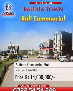 Bahria Town Advice Associate: Company Page Admin Plots For Sale, Commercial, Real Estate, Advice, Pakistan, Real Estates
