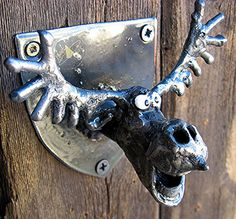 Bottle Opener  Wall Mounted Moose Head made from by PlanetDork, $39.99