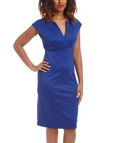 Look what I found on #zulily! Royal Blue Notch Neck Dress #zulilyfinds