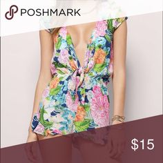 Jagger Floral Romper Only been worn once! Tobi Dresses