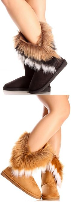Hey sexy snow bunny!  Ready to hit the slopes? Well these boots are perfect for your mountain excursion! They'll keep you warm and toasty with their fur, and the lining of them feels like you're walking on Marshmallows!