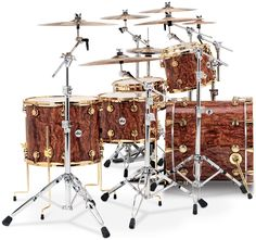 Collector's Series Private Reserve Exotic - Natural Lacquer over Waterfall Bubinga with 24k Gold Hardware