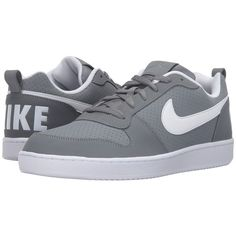 Nike Recreation Low (Cool Grey/White) Men's Basketball Shoes ($60) ❤ liked on Polyvore featuring men's fashion, men's shoes, men's sneakers, shoes, men, mens shoes, men shoe's, mens white slip on sneakers, mens grey sneakers and mens breathable shoes