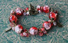 handmade bracelet berries grape crackle rękodzieło bransoletka grono ручная_работа браслет ягоды