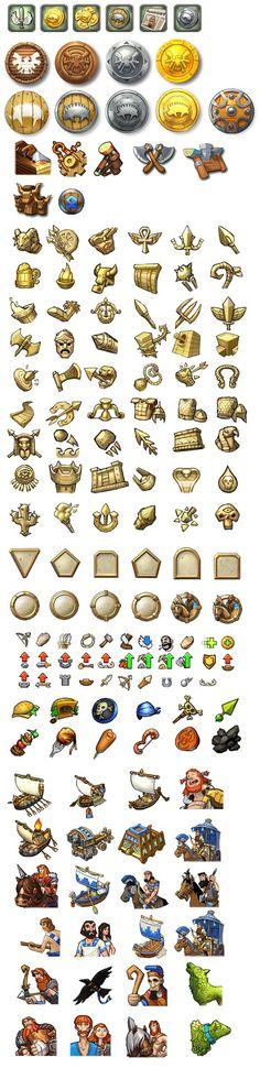 게임 아이콘들은 이것들을 따다가 포토샵에서 비슷하게 그리는 것을 채택할 수도 있다.