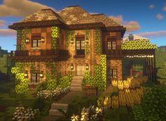 Minecraft Farm, Minecraft Mansion, Minecraft Houses Survival, Easy Minecraft Houses, Minecraft House Tutorials, Minecraft Plans, Minecraft House Designs, Minecraft Decorations, Minecraft Construction