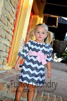Grey Chevron Dress. Very cute!