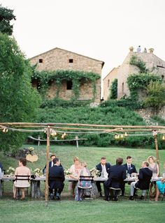 wedding reception or dinner entertaining, outdoor, decor / photo: Jose Villa, styling: Joy Thigpen
