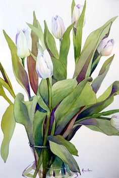 White Tulip Explosion by Marni Maree