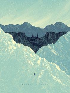 "Batman 75th Anniversary Mondo Gallery | Batman Begins | Artist: Kevin Tong | 18"" x 24"" screenprint, edition of 275"