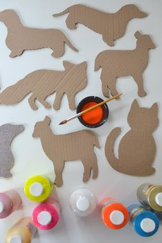 Diy cardboard animals ~ recycled art ~ free templates projects for kids, diy for kids Kids Crafts, Projects For Kids, Diy For Kids, Diy And Crafts, Craft Projects, Arts And Crafts, Cardboard Animals, Diy Cardboard, Carton Diy