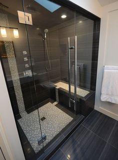 61 Best Stunning Modern Bathroom Shower Design Ideas - Page 44 of 63 Modern Bathroom Tile, Bathroom Tile Designs, Bathroom Design Luxury, Modern Bathroom Design, Small Bathroom, Master Bathroom, Bathroom Ideas, Shower Designs, Shower Ideas