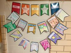 I just love doing Hopes and Dreams with my class. It's a chance to individualize and begin our yearlong journey together. This year, instead of filling out a boring worksheet, I decided to jazz it up! We made Hopes and Dreams Banners! The front of the banner has colorful symbols, representing all of their Hopes and Dreams. The back, hidden to the public, contains their worries and hopes in writing. My students are SO proud of their banner this year!