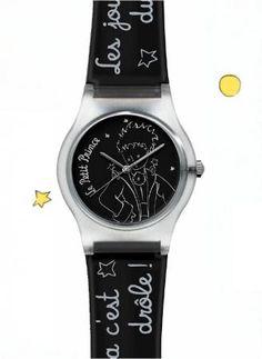 Montre Le Petit Prince (Noir & Argent) - Le Petit Prince : La boutique officielle