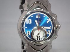 OAKLEY JUDGE II 2 WATCH 10-259 POLISHED BLUE FACE   STAINLESS STEEL BRACELET 7a66bbd9b114