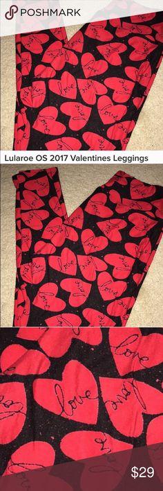 ❤️ Valentine's Day!! ❤️ LaLuRoe Leggings❤️ Worn twice!  Super cute! ❤️ LuLaRoe Pants Leggings