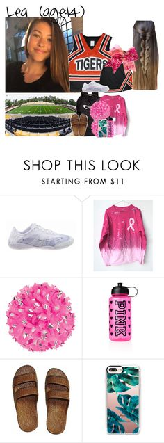 """""""Lea // 10-27-17 // Pink Out FNL Game✨💗🏈"""" by dream-familiess ❤ liked on Polyvore featuring Victoria's Secret PINK, Casetify and TheChayFamily"""
